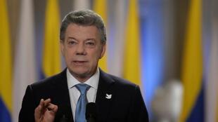 Le président Juan Manuel Santos, le 12 novembre 2016, à Bogota.