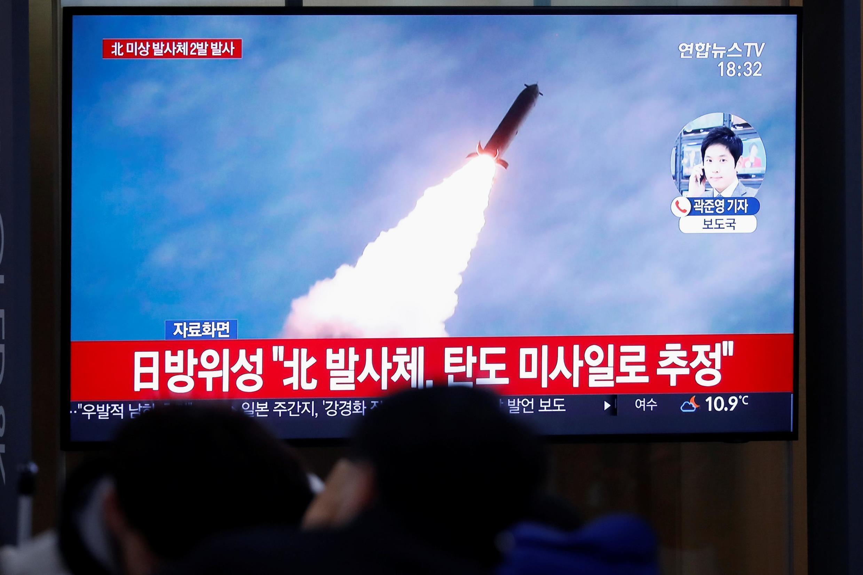 朝鲜再次试射弹道导弹。