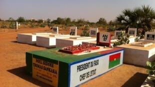 La tombe de Thomas Sankara à Ouagadougou, Burkina Faso.