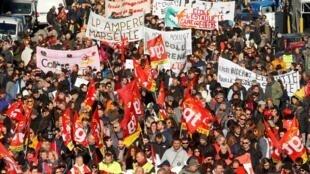 法國民眾反政府退休制度改革示威2019年12月10日再上路