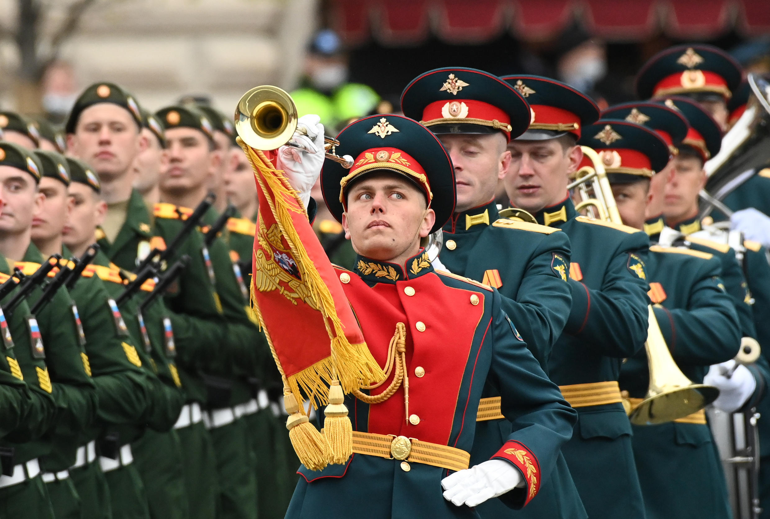 Thousands of soldiers and veterans were on Red Square for the annual WWII Victory parade