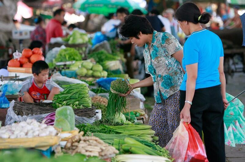 北京一家菜市场