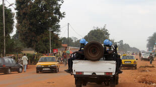 Soldats de la Minusca à Bangui.