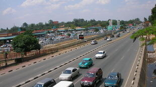 The Great East Road in Lusaka, Zambia.