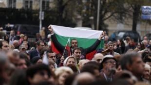 Манифестация студентов и преподавателей в Софии 01/11/2013