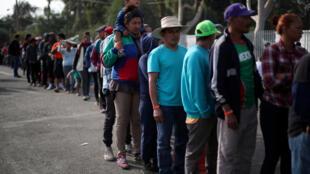 Migrantes de la caravana de América Central en Tijuana, México, 21 de noviembre de 2018.