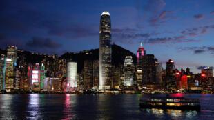 2020年6月29日,香港维多利亚港。