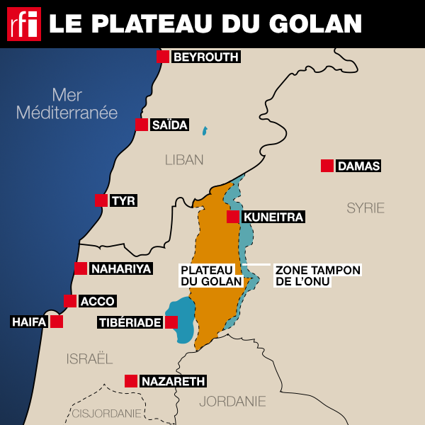 Le plateau du Golan, un territoire disputé depuis 1967.