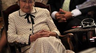 L'ancienne ministre, ancienne présidente du Parlement européen Simone Veil, ici en juin 2008.