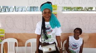 Gertrude Ada, présidente de l'association des femmes productrices de manioc d'Agni-Zoka de Bitam au Gabon