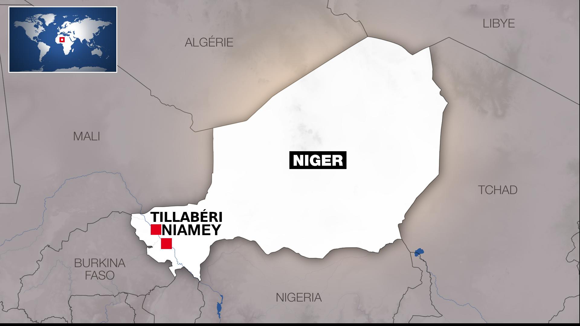 Tillaberi carte Niger