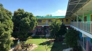 Hôpital pédiatrique Saint-Damien à Port-au-Prince, principal hôpital de prise en charge des enfants drépanocytaires en Haïti.