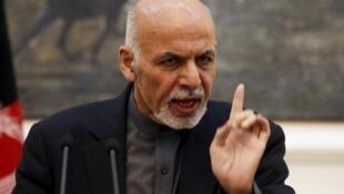 阿富汗总统阿什拉夫·加尼资料图片