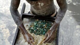 Un mineur de Lubumbashi, en RDC