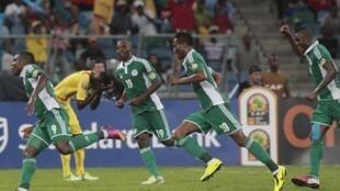 L'équipe du Mali, en demi-finale de la CAN 2013, contre le Nigeria, le 6 février 2013.