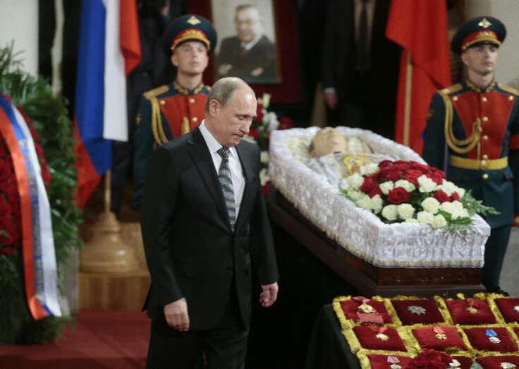 Владимир Путин на прощании с Евгением Примаковым
