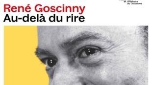 """Cartel de la exposición """"René Goscinny, au-delà du rire"""" en el MAHJ"""