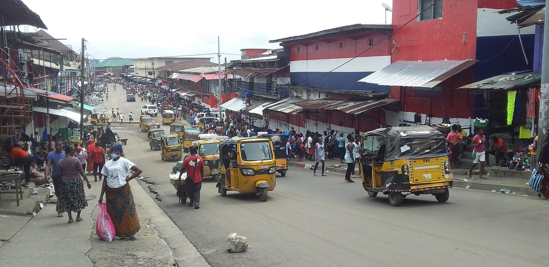 LIBERIA A street in MOnrovia liberia