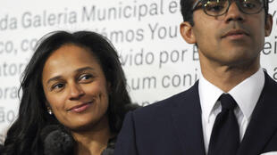 Angolan authorities froze the bank accounts and domestic assets owned by Isabel dos Santos (L) and her husband Sindika Dokolo.