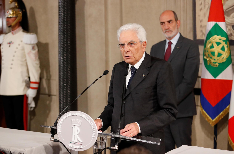 O presidente da Itália, Sergio Mattarella, quer a composição de um novo governo até terça-feira (27).