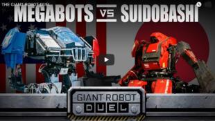 Le combat de robots géants