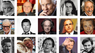 Plusieurs grandes figures de la politique, des médias, du sport ou des arts ont disparu cette année.