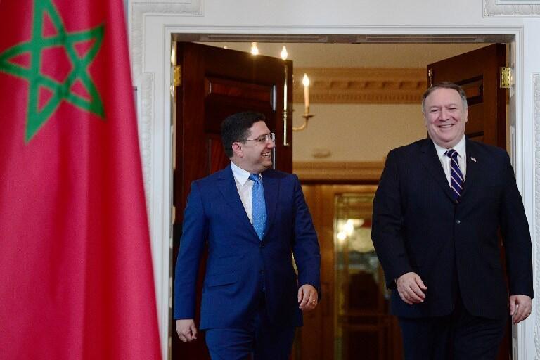 """""""ناصر بوریتا"""" وزیر امور خارجۀ مراکش، روز دوشنبه ١٨ سپتامبر/٢٧ شهریور، برای دیدار با """"مایک پمپئو"""" همتای آمریکایی خود به واشنگتن سفر کرد و در خصوص مقابله با حمایت ایران از تروریسم، با وی به گفتگو نشست."""