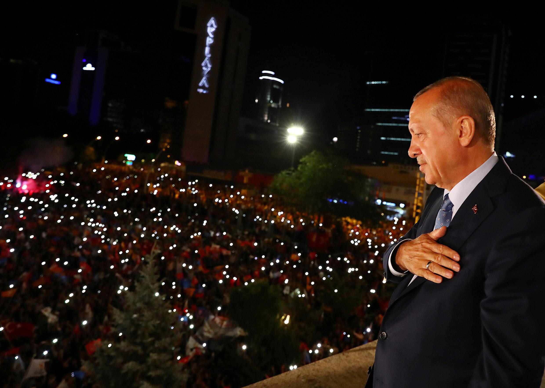 O presidente turco, Recep Tayip Erdogan, em junho de 2018.