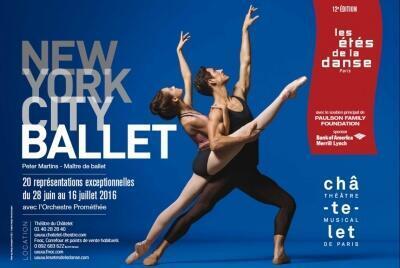 La prestigieuse troupe du New York City Ballet est sur la scène du théâtre du Châtelet, jusqu'au 16 juillet 2016.