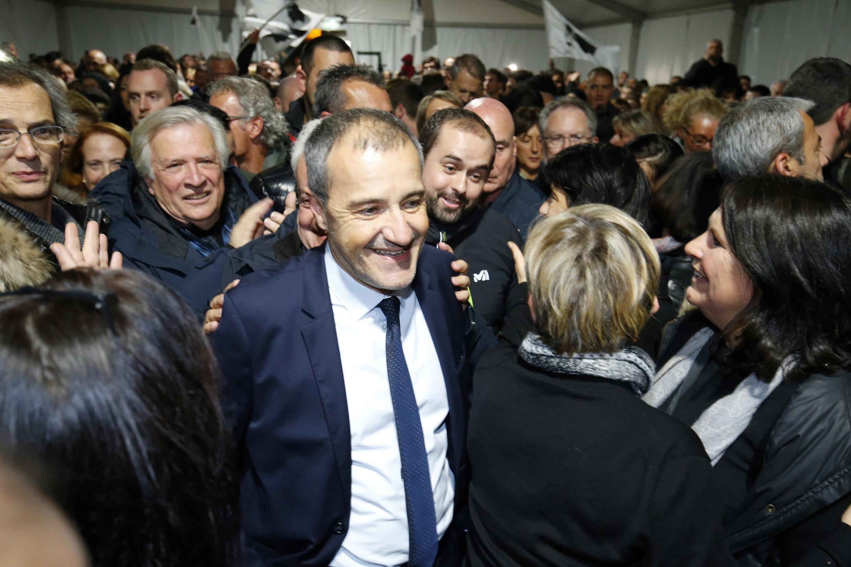 Глава партии «Свободная Корсика» Жан-Ги Таламони после объявления результатов региональных выборов 10 декабря 2017.