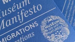 Portada del documento publicado por el Muséum.
