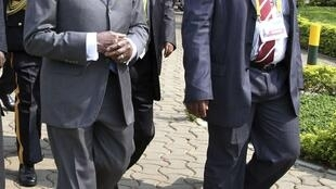 Robert Mugabe attends the African Union summit in Uganda