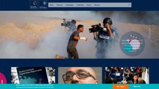 Capture d'écran de la page de garde du site de Reuters Institute.