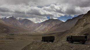 Des camions militaires indiens dans la région du Ladakh en septembre 2017 (illustration).