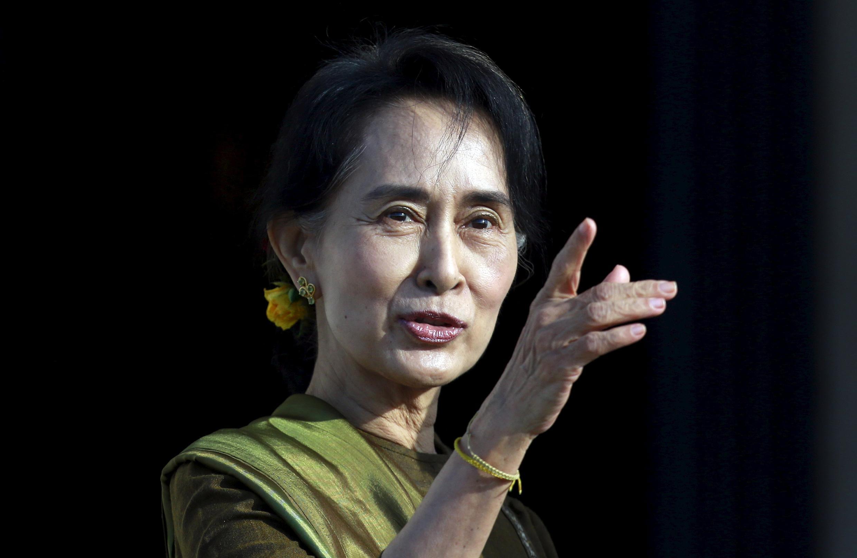 """آن سان سوچی، رهبرحزب """"اتحاد ملی میانمار"""""""