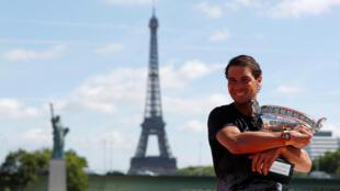 Tay vợt Rafael Nadal giành chức vô địch quần vợt Pháp mở rộng Roland Garros, ngày 11/06/2017.