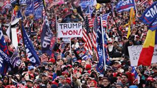 1月6日大量特朗普支持者進入華盛頓