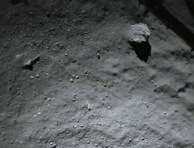 Vue de la comète «Chury» à 40 mètres.