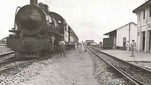 Chemin de fer Congo-Océan, Gare de Brazzaville, décembre 1932.