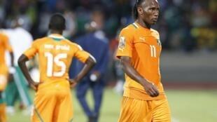Didier Drogba quitte la CAN après la défaite de la Côte d'Ivoire face au Nigeria