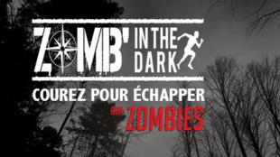 Affiche de la Zomb'in The Dark 2015, la course d'orientation nocturne à Nemours.