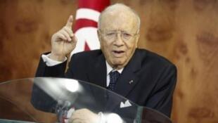 Tunisian interim prime minister Beji Caid Sebsi