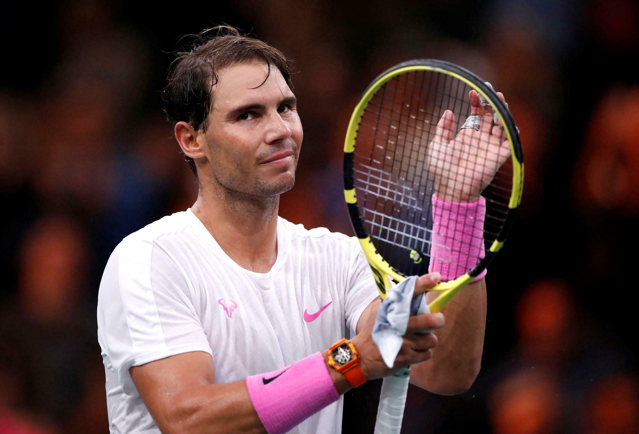 Rafael Nadal lost his singles match against Belgium's David Goffin but teamed up with Pablo Carreno Busta for the win in the decisive doubles match.