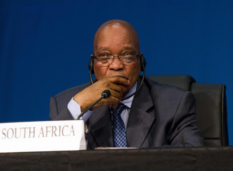 Le président sud-africain, Jacob Zuma, en mars 2013 au sommet des BRICS, à Durban.