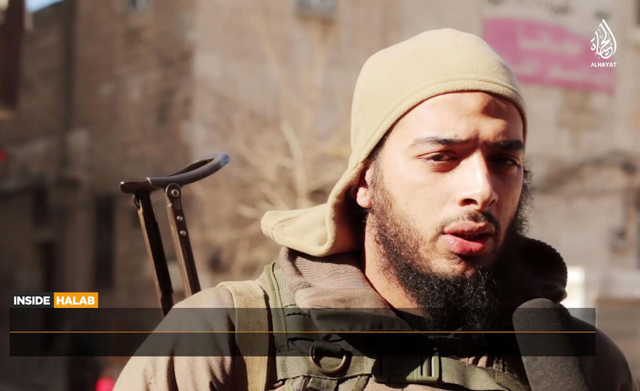 Capture d'écran d'une vidéo de février 2015 montrant Salim Benghalem.