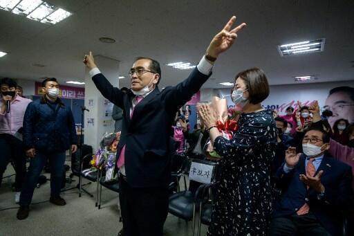 Thae Young-ho se tornou o primeiro desertor do Norte eleito para o Sul ao vencer as eleições no elegante distrito de Gangnam, em Seul.
