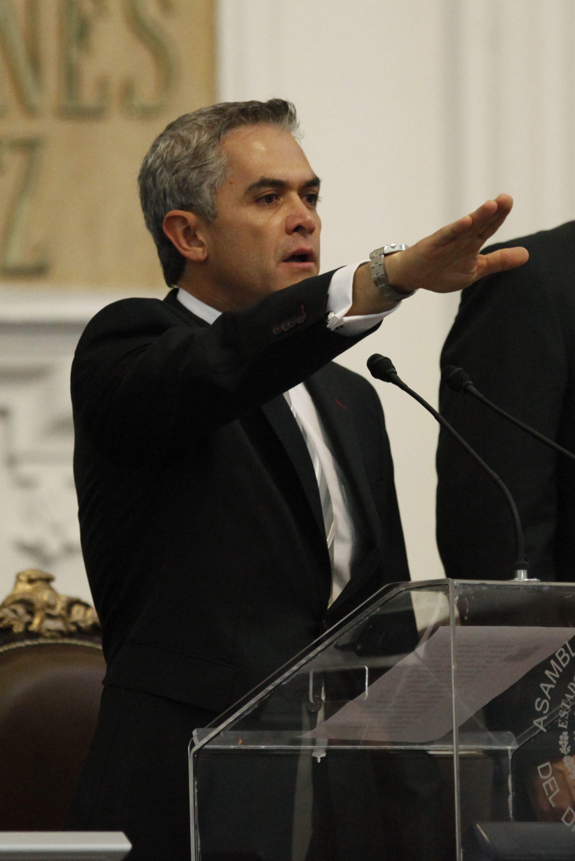 Miguel Ángel Mancera, Jefe de Gobierno del Distrito Federal.