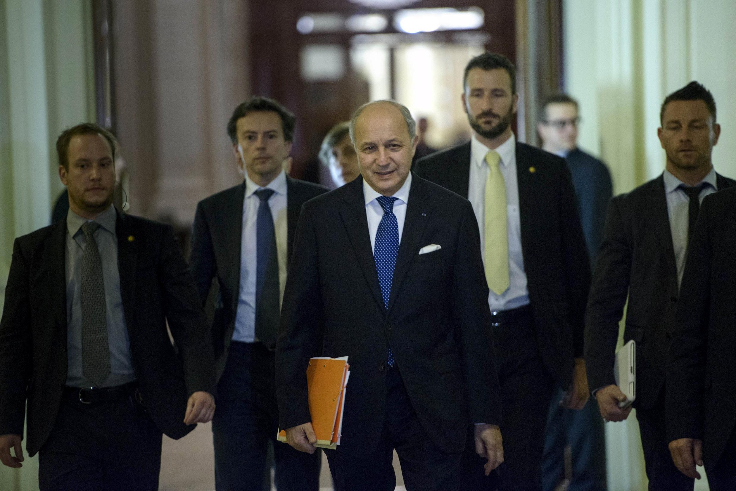French Foreign Affairs Minister Laurent Fabius in Lausanne for nuclear talks with Iran