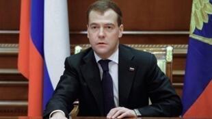 俄罗斯总统梅德韦杰夫