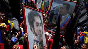 Partidários de Nicolás Maduro na abertura da Assembleia Constituante, em Caracas, em 4 de agosto de 2017.